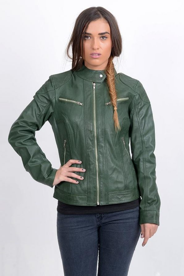 green winter bomber jacket