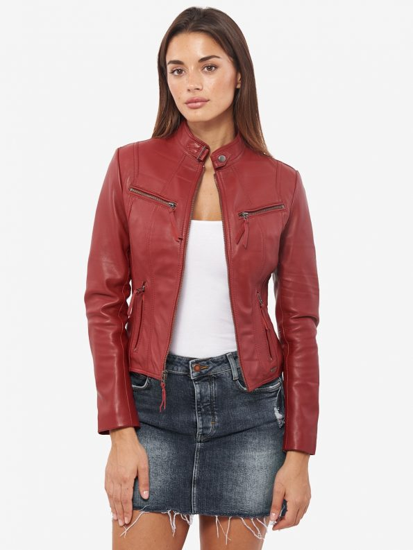 Incredible Trendy Winter Burgundy Jacket For Women's