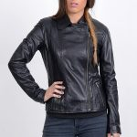 Impressive Vintage Black Bomber Jacket For Women's