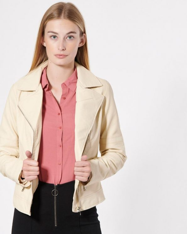 Impressive Vintage Design Off-White Jacket For Women's
