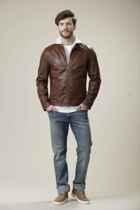 luxurious brown jacket