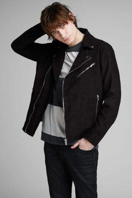 pure suede leather jacket