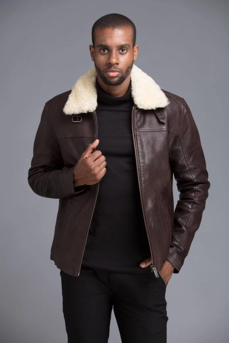 real fur eskimo collar jacket