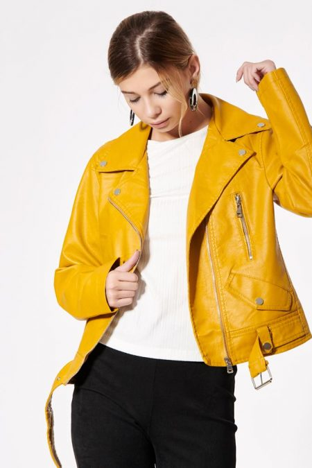 biker yellow jacket
