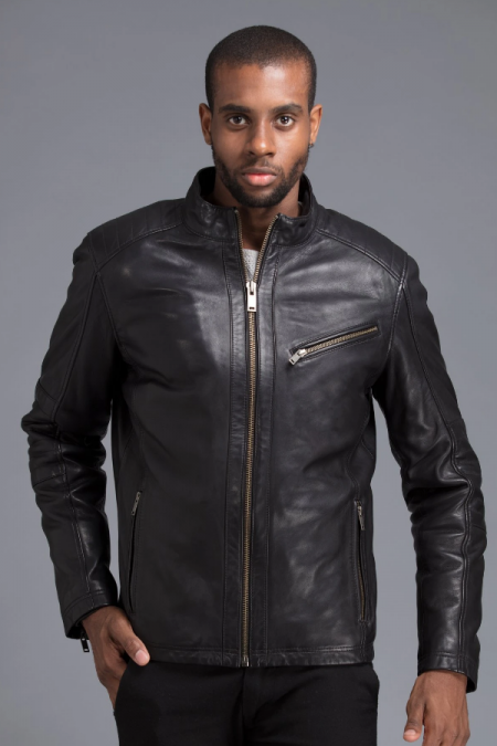 Black Round Neck Jacket