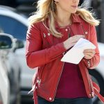 Hilary Duff Leather Jacket For Women