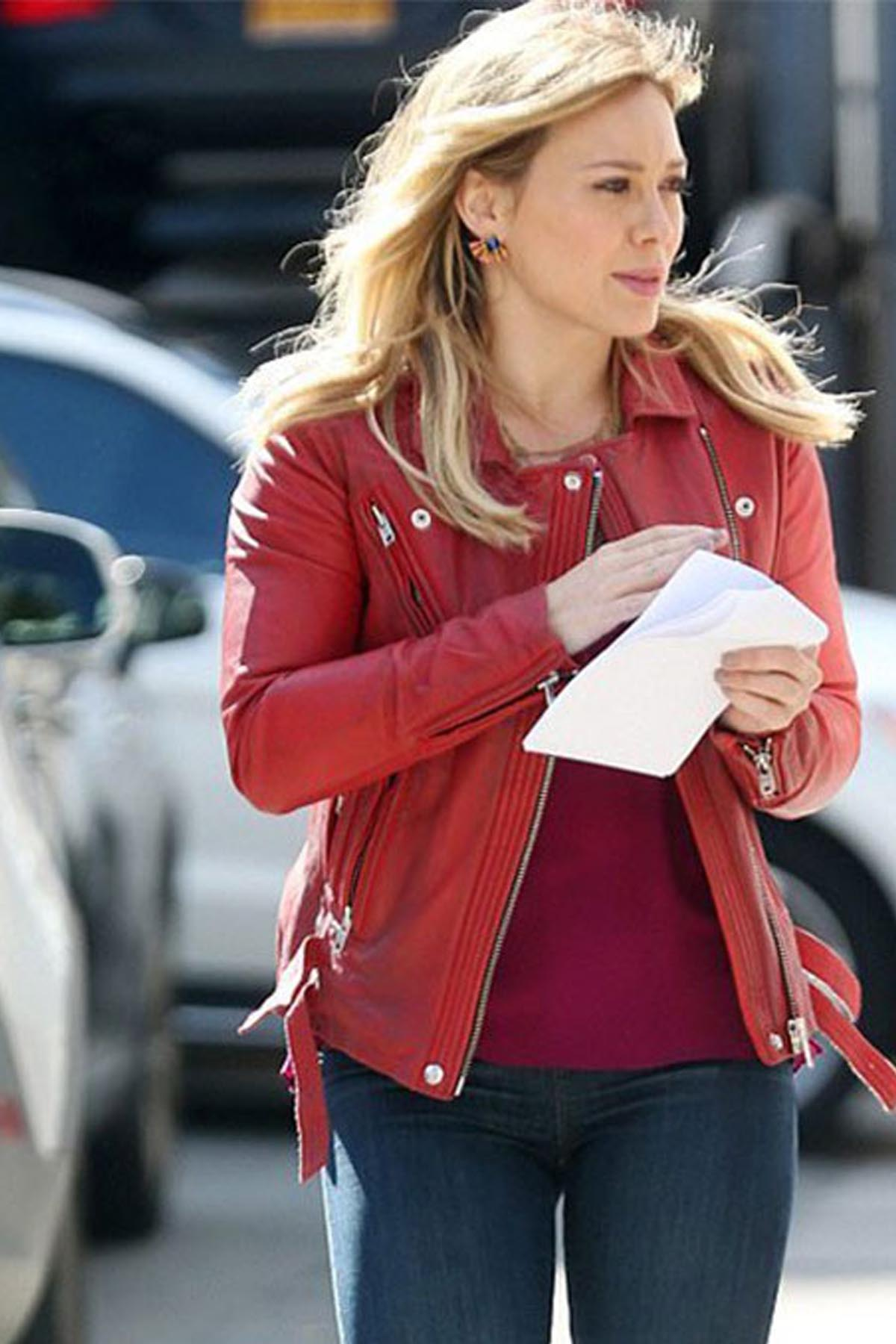 Hilary Duff Leather Jacket For Women 2