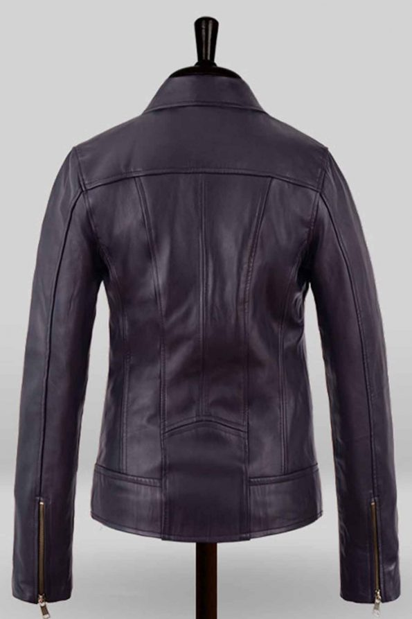 Natalie Portman Vox Lux Leather Jacket Back