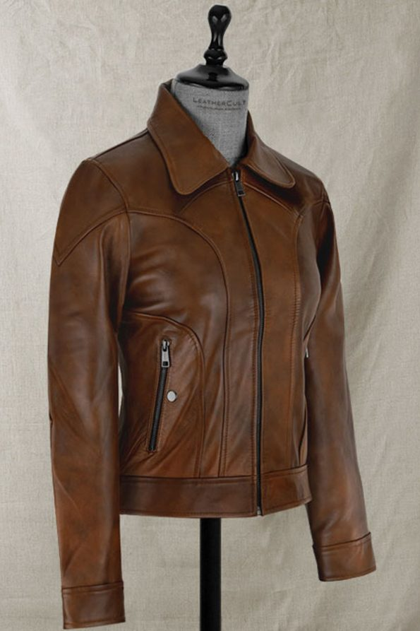 Selena Gomez Leather Jacket for Women
